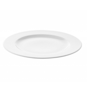 assiette blanche en procelaine