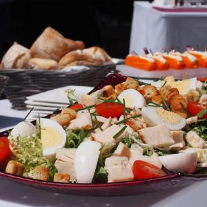 Buffet tartes et salades