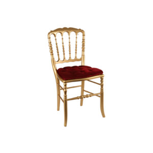 chaise rouge et or