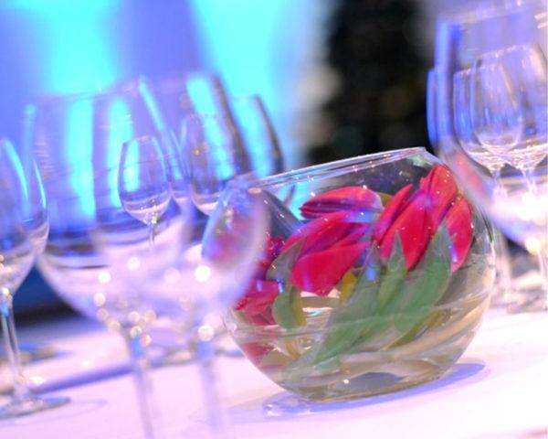 fleur fraîche repas assis