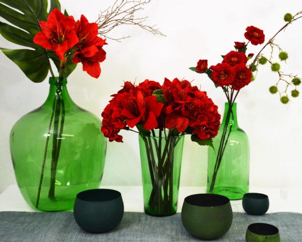 pack décoration rouge et vert