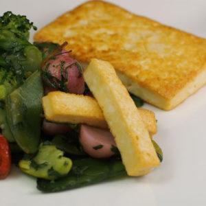 Tofu grillé et ses légumes à la coriandre