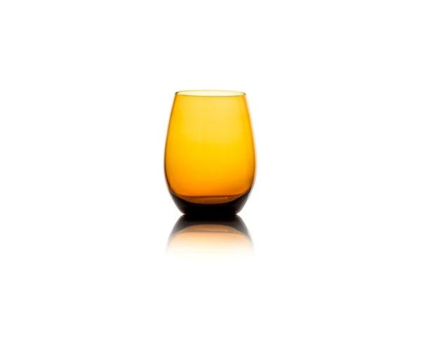 verre drop orange