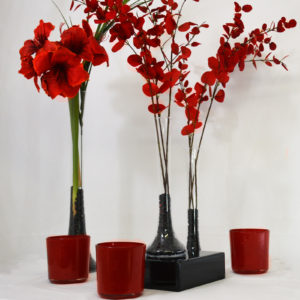 Pack décoration rouge et noir