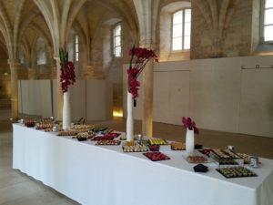 buffet dans un musée