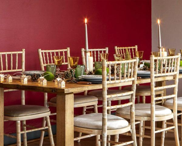 Table avec chaise en Bambou