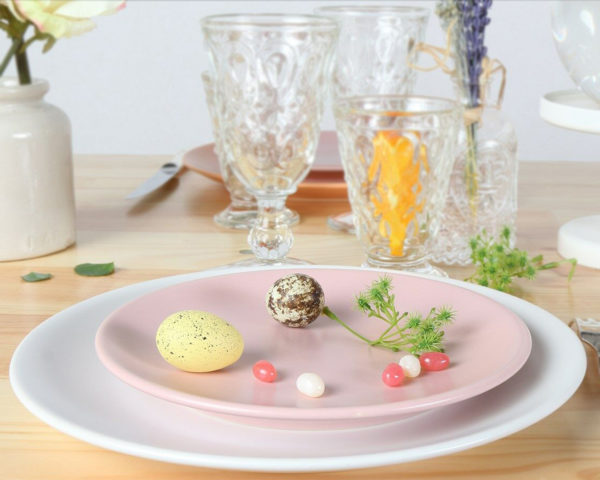 assiette pop rose