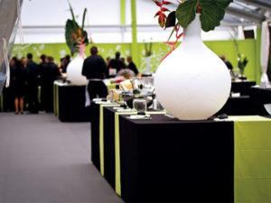 événement avec thème vert et blanc