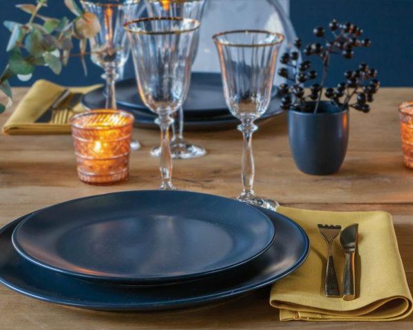 verre marquis or sur table